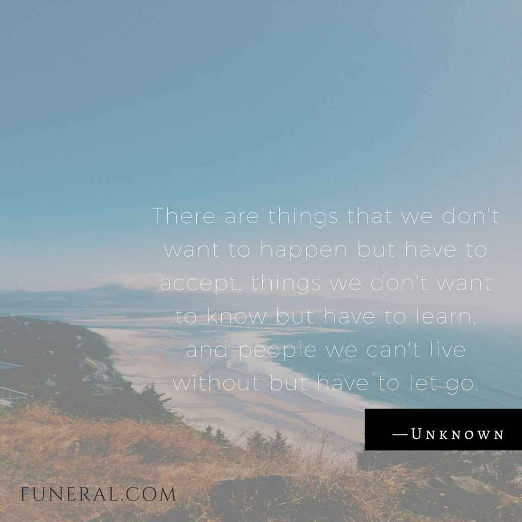 Coping With Death Quotes 12 Quotes About Grief And Loss  Funeral