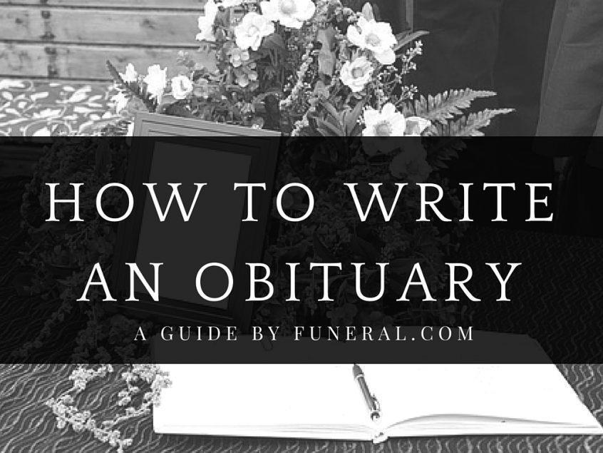 how to prepare an obituary